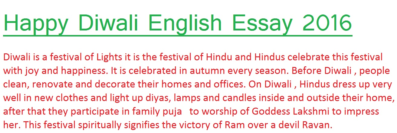 Write my diwali essay in english