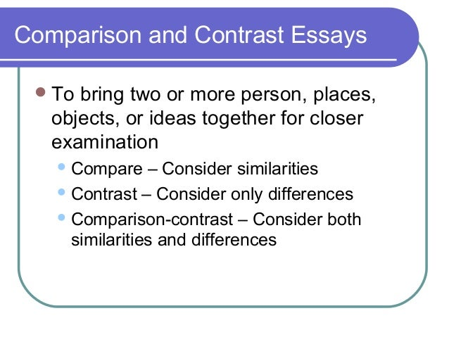 Write my comparing two essays