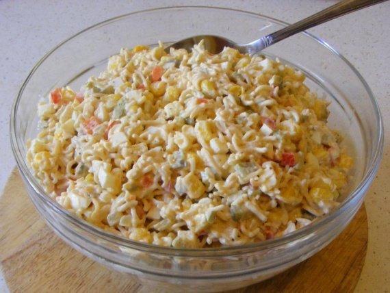Салат из супов быстрого приготовления рецепты с фото