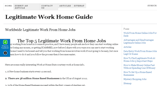 Top 10 legitimate work from home sites