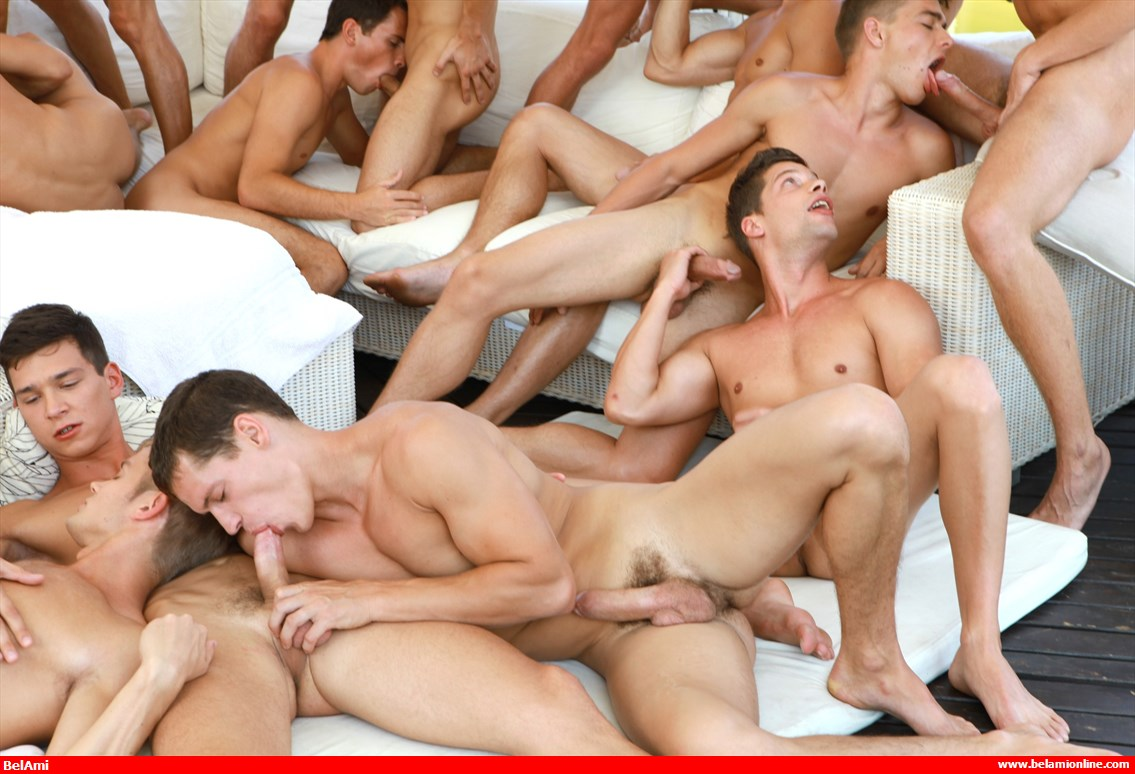Male video orgy largest collection