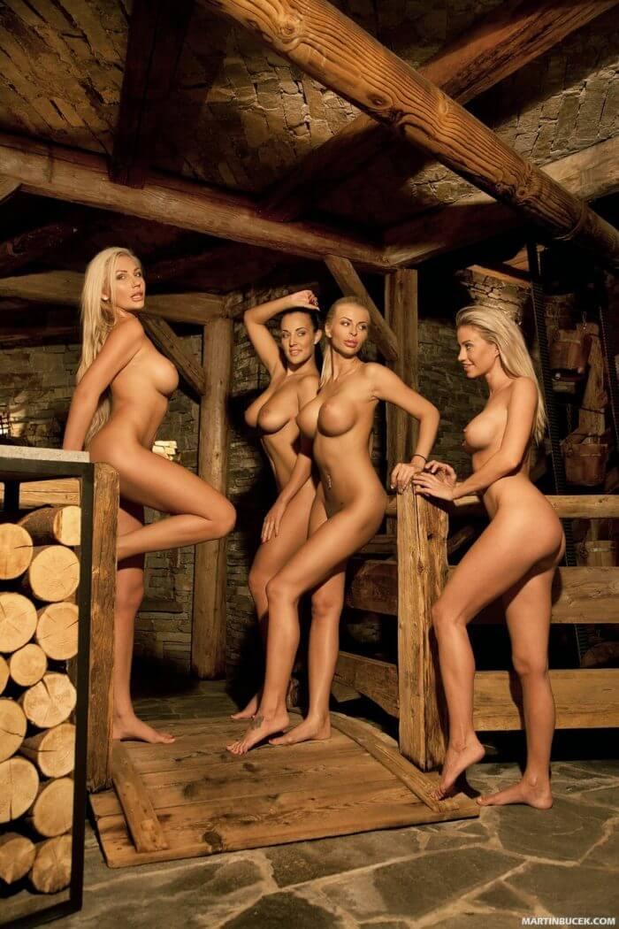 Teenage blond girls having sex