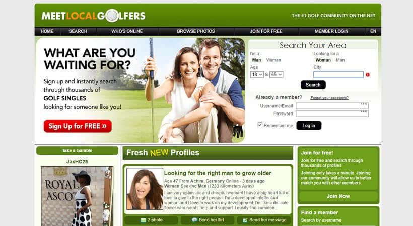 dating websites voor golfers