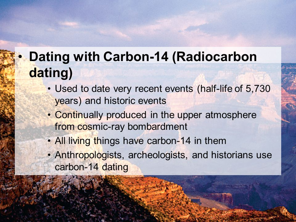 Carbon 14 dating anthropology