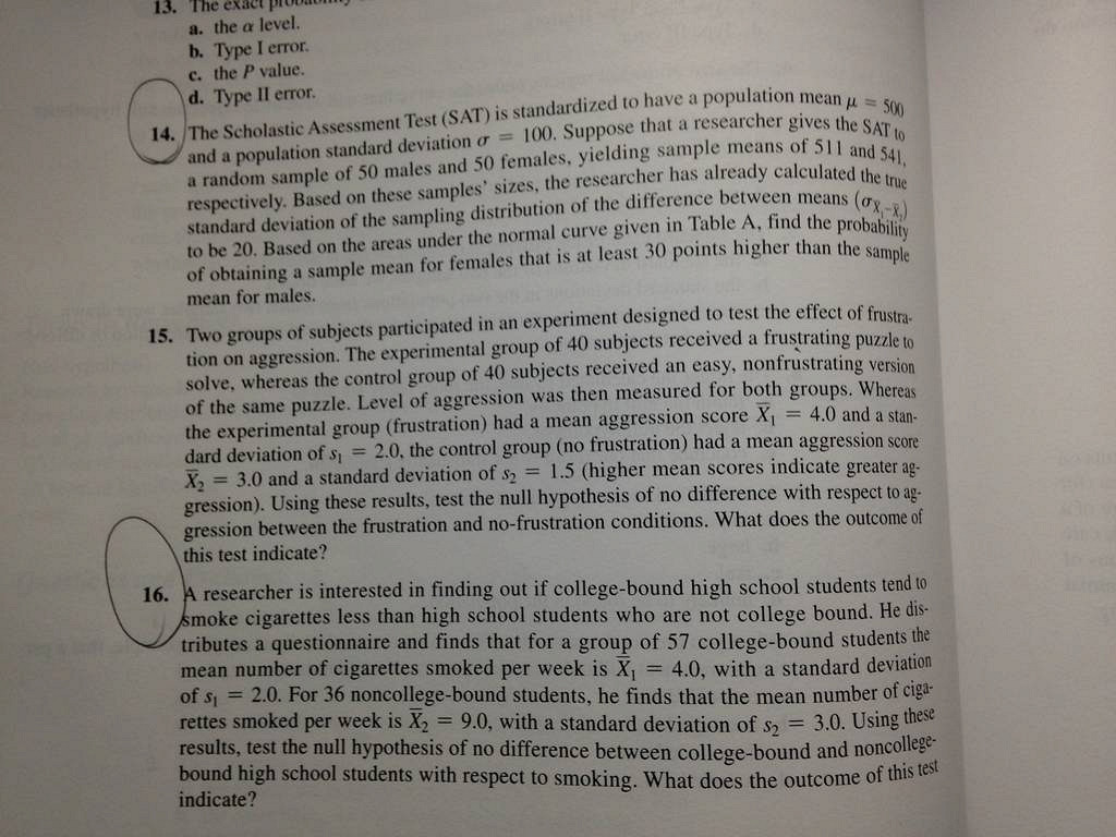 Buy probability homework