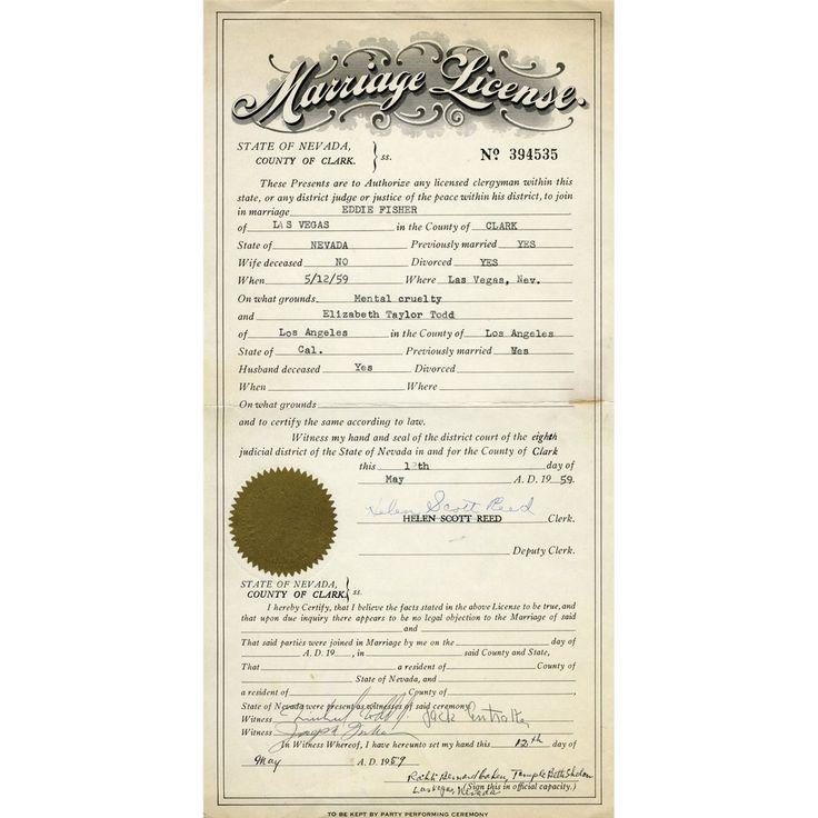Marriage License In Nevada Public Records
