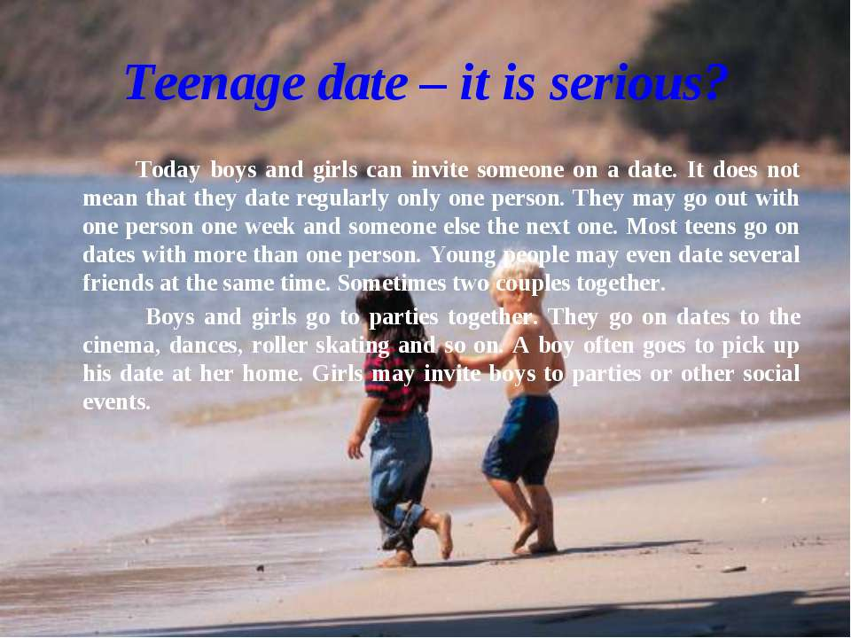 Teenage dating today
