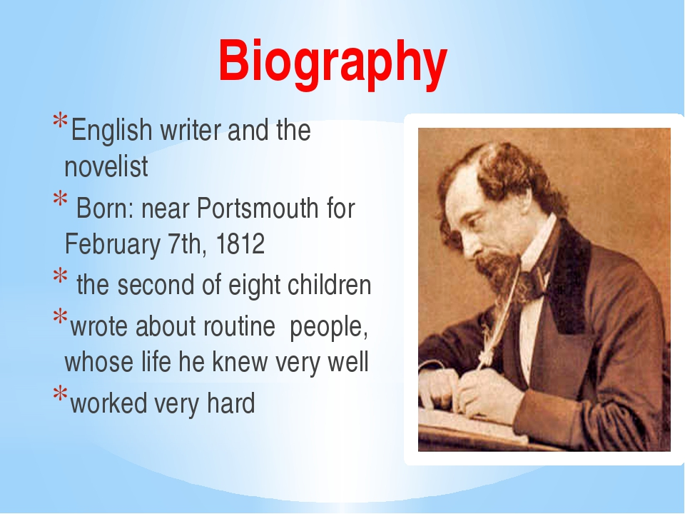 English biography