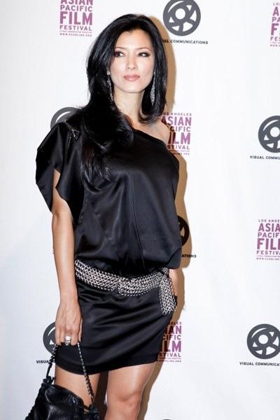 Sexy latina in sheer dress