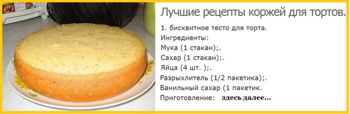 Испечь торт быстро и вкусно рецепты с фото бисквит