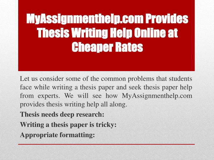 Thesis writings