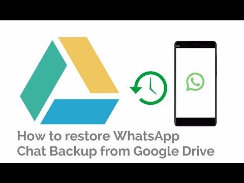 WhatsApp FAQ - Backing up to Google Drive