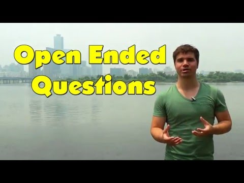 Best open ended questions dating