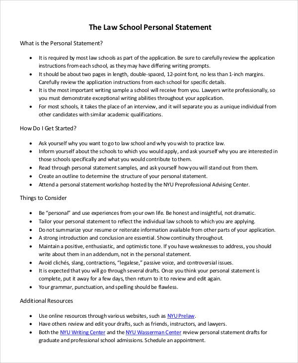 Law school essay examples