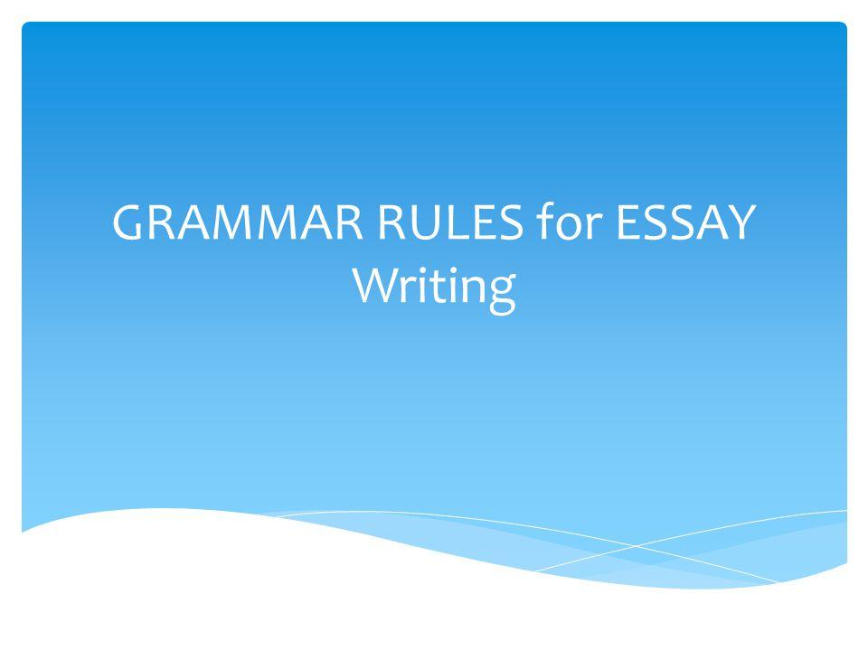 Write my grammar essay