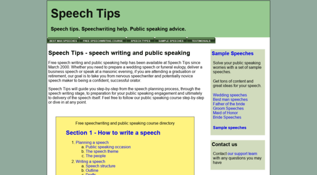 Write my format of writing a speech