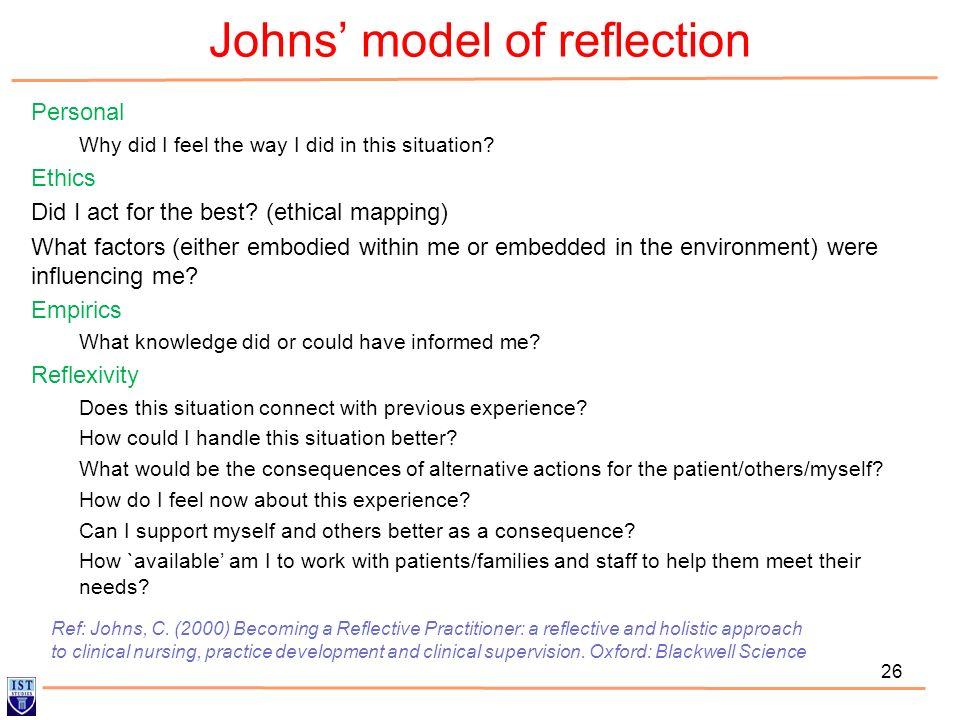 Reflection nursing essay