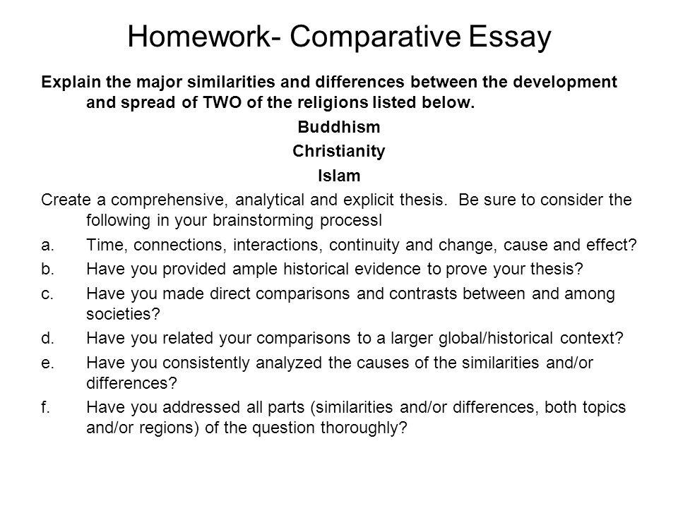 Write my world religion essay