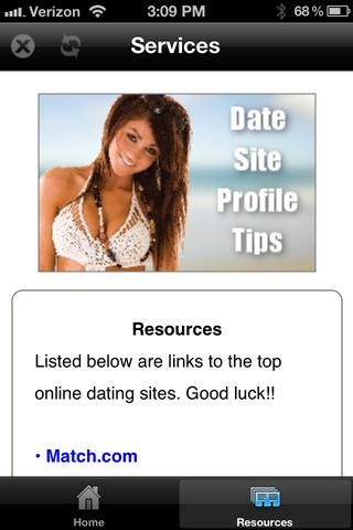 Dating sites tips profile