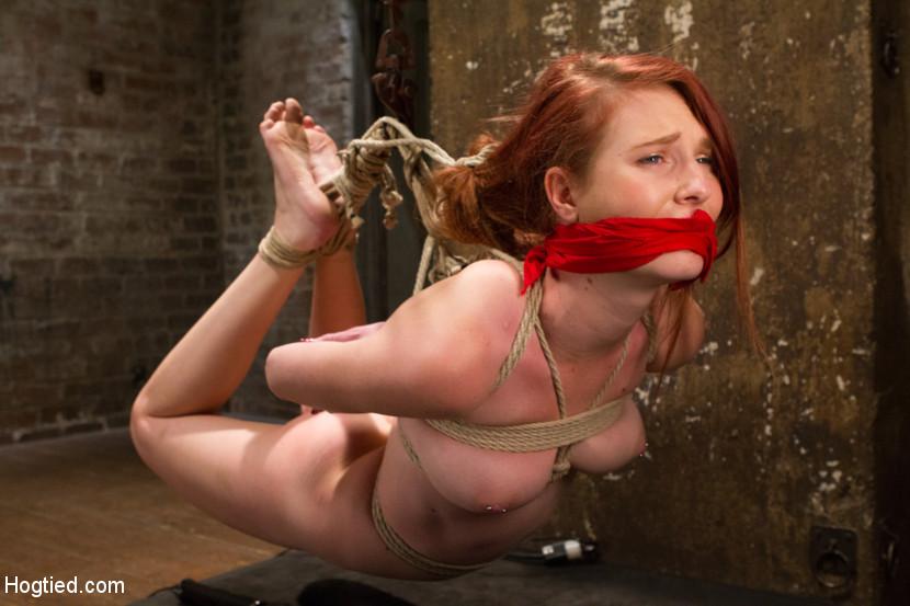 Bondage nude redhead
