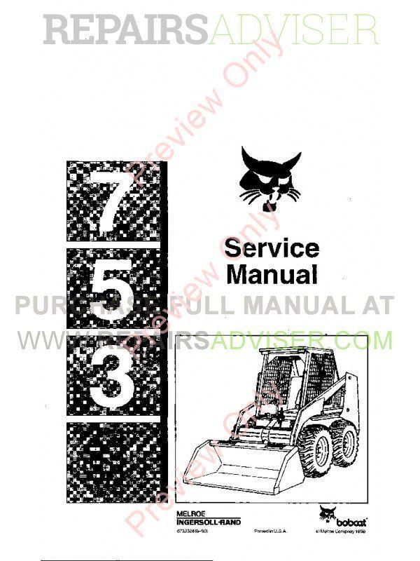 DOWNLOAD Bobcat (Bob Cat) Service, Owner's, Parts Manual