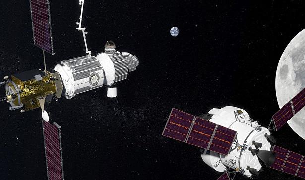 Окололунную станцию могут построить изрусских модулей МКС