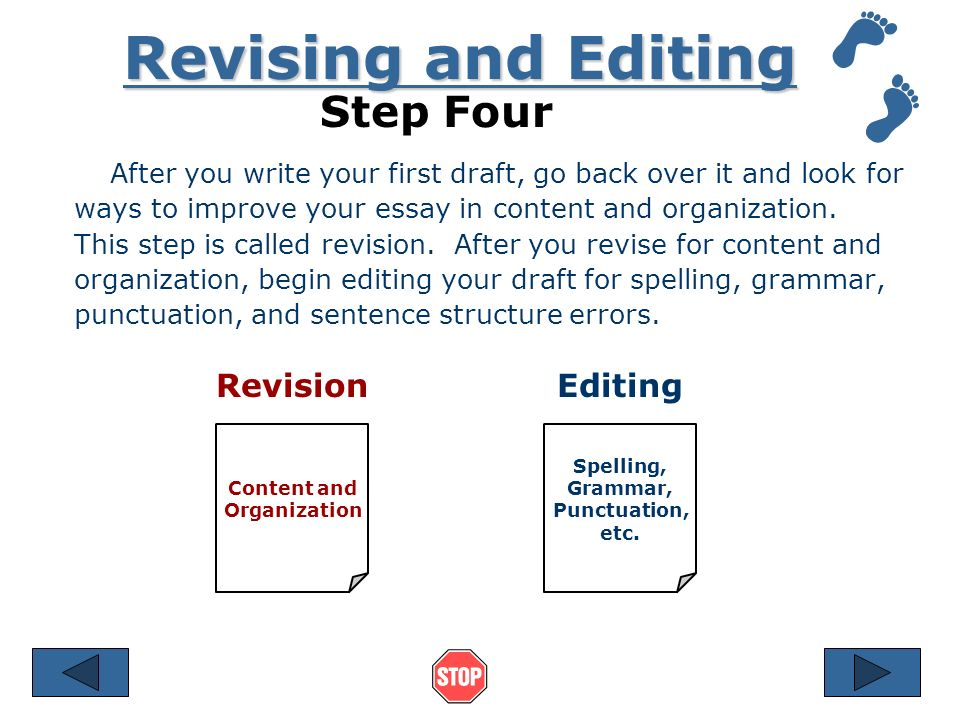 Revising Drafts - The Writing Center