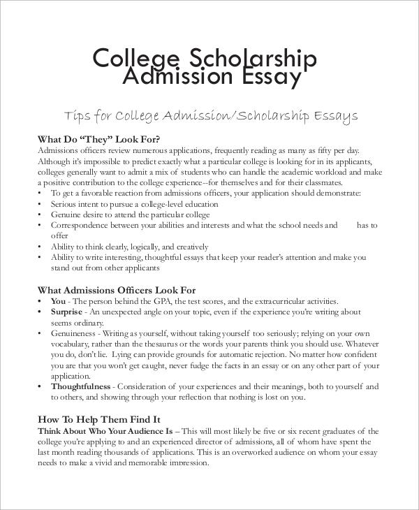 Help with scholarship application essay