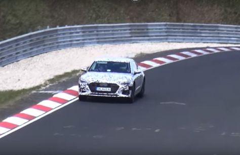 Audi S72019 попал вобъективы папарацци
