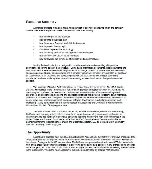Hotel Resort Business Plan - Executive summary