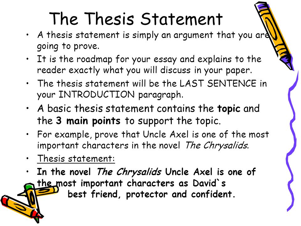 Character Analysis Thesis Statement - Custom-Essaysorg