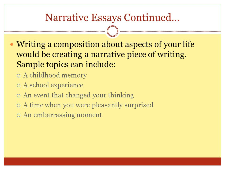 Memorable Experience: Free Narrative Essay Sample