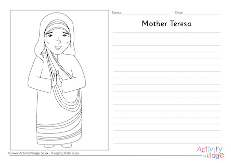 Write my essay on mother teresa in english