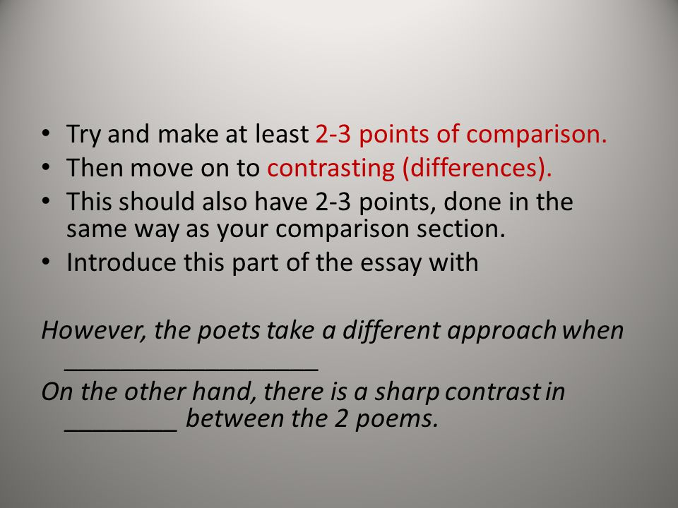 A Comparison Of Two Poems English Literature Essay