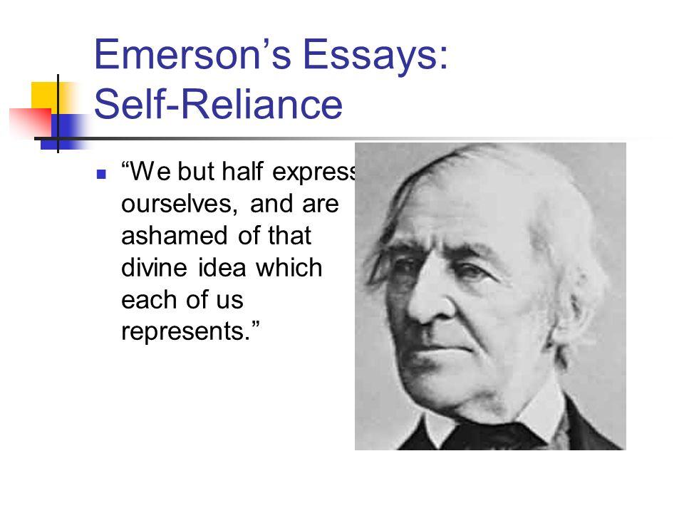 Emerson essay self reliance