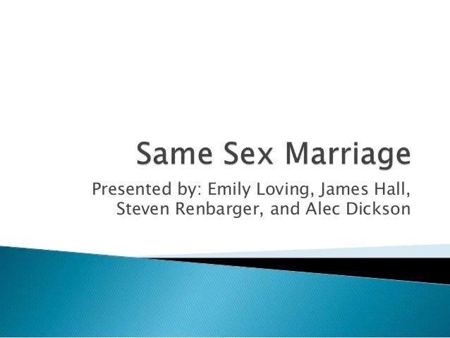 Same sex marriage essay