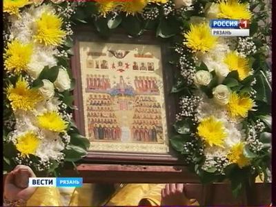 Крестный ходвчесть Собора Рязанских святых прошел поулицам Рязани