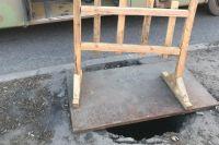 Вцентре Ярославля мусоровоз провалился подземлю