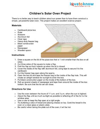 Solar oven research papers