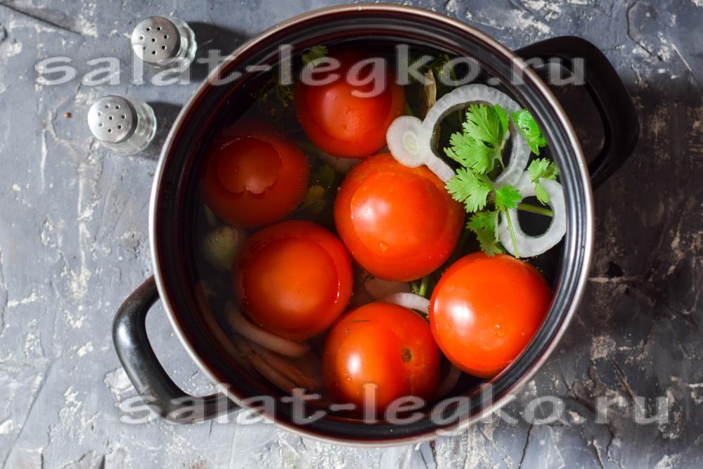 Малосольная помидора быстрый рецепт