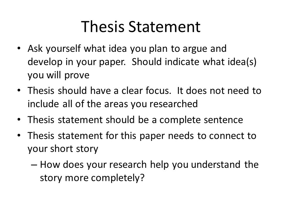 How to Write a Great Thesis Statement - Scribendi