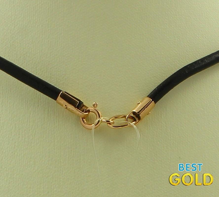 Шнурок с золотой застежкой