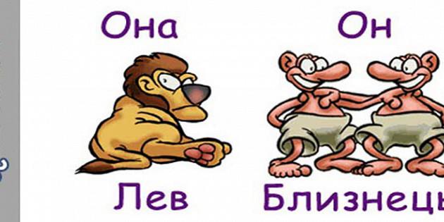 Гороскоп совместимости мужчи  козерог и женщи  лев совместимость