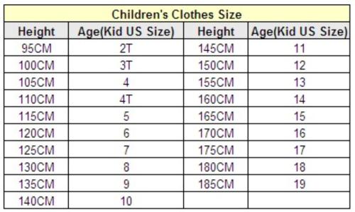 Соответствие размеров детской одежды сша и россии алиэкспресс