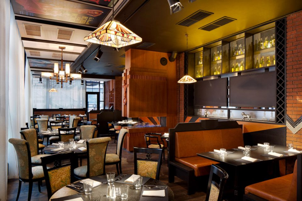 Ресторан Mary Jane - фотография 9 - Каминный зал
