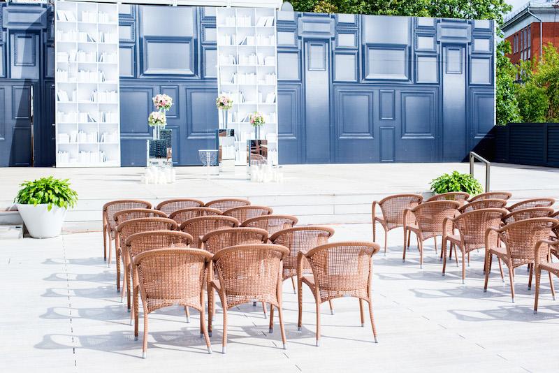 Ресторан Шелк - фотография 18 - Выездная церемония на веранде