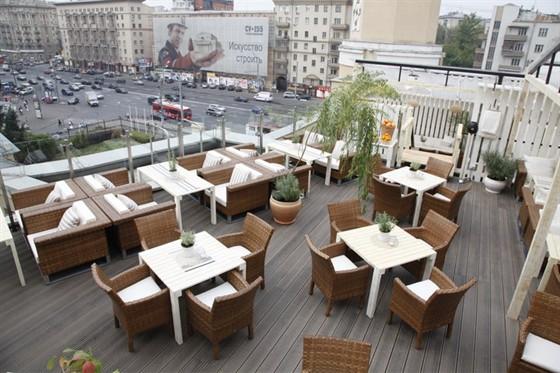 Ресторан Kabuki - фотография 4 - Летняя веранда на крыше ТЦ Атриум с прекрасным видом на Москву