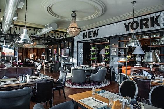 Ресторан New York - фотография 7 - Зона ресторана на первом этаже