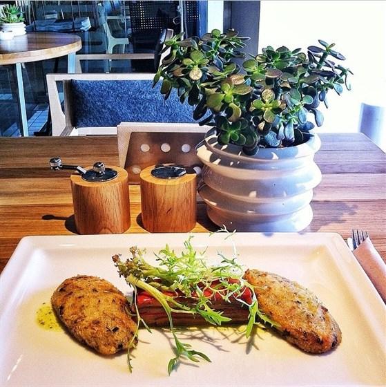 Ресторан Fooodcafé - фотография 4 - Постное меню 2014, овощные котлеты и слойка из цукини