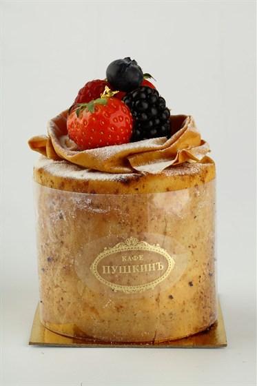 Ресторан Кондитерская «Пушкин» - фотография 8 - Изящной тортлетецъ «Наполеонъ» нетрадицiонным манеромъ сделанной.